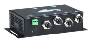 VOPEX-M12VA-4  Industrial VGA Splitter/Extender with Stereo Audio via CATx with M12 Connectors to 600 feet: 4-Port