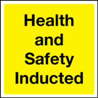 Health & Safety Inducted Hard Hat Label