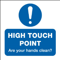High touch point - How clean are your hands?- Pack of 12 stickers