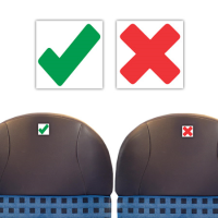 Ticks and Crosses Seating Stickers