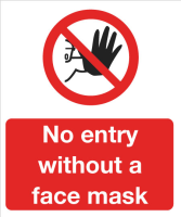 No entry without a face mask.
