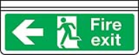 Ceiling mounted double sided fire exit sign
