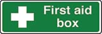 First aid box (text & symbol) sign