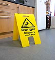 Danger - Slippery Surface A-Board Sign