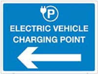 Electric Vehicle Charging Point Sign.