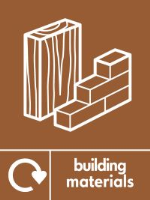 Building waste recycling building materials signs