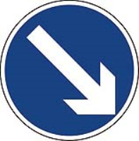 Arrow Diagonal Right. Fig 610. Class 2 reflective sign (CE Certified)