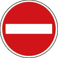 No entry. Fig 616. Class 2 reflective traffic sign