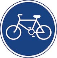 Route for pedal cycles only. Fig 955. CE Certified Traffic Sign