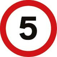 Speed 5mph Fig. 670. Class 2 reflective traffic sign (CE Certified)