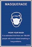 Wear your mask poster ISO7010 symbol