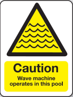 Wave machine operates in this pool sign
