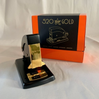 All Metal Zenith 520 Stapler Gold Plated Black - Plastic Free - Life Time Guarantee