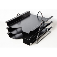 All Metal Zenith 830 Three Tier Letter Tray, Black or White.
