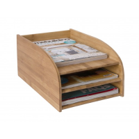 Bamboo 3 Tier Letter Tray