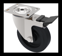 SSMH100TP3TFSWLP  - High Temperature Stainless Steel Castors