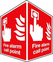 Fire alarm call point – projecting sign