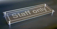 Design Your Own visual impact sign 450x150mm c/w stand off locators