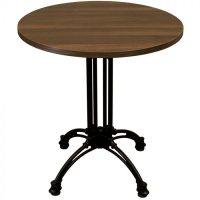 Walnut Complete Continental Small Round Table