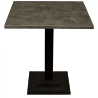 Baltic Silver Complete Step Square Table