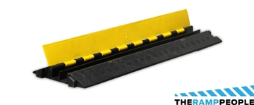2-Channel Rubber Cable Protector Small (990mm x 250mm x 50mm)