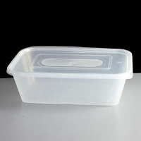 Microwave Safe Containers Clear Rectangular 650cc Per Box 250