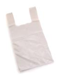 Vest Carrier Bags White Approx 16x25x30 25 micron per 100