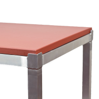 Aluminium Frame Poly Top Cutting Table Red Brown