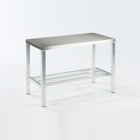 Aluminium Frame Table with Stainless Steel Top