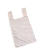 Vest Carrier Bags White Approx 11x17x21 18 micron per 1000