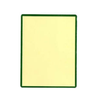 Thermal Scale Labels 58x76mm Cream with GREEN BORDER Per Roll 500