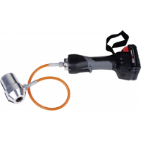 Cordless battery operated puncher flexible head
