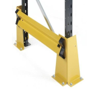 Fixed Single Rail Racking End Frame Protectors With End 'L' Profiles - FULL KIT