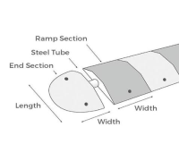 Steel Re-Inforcing Tube For Topstop Speed Reduction Ramps