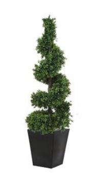 Artificial Boxwood Topiary Spiral Outdoor Plant