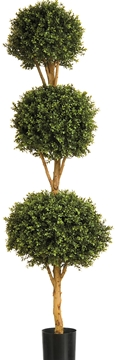 Artificial Buxus Triple Ball, Outdoor Plant