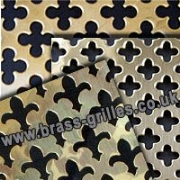 Perforated Polished Brass Grille Range
