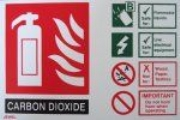 Fire Extinguisher ID Sign - CO2