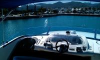 Tinted polycarb boat screens