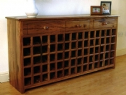 70 Bottle Wooden Wine Rack