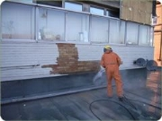High Pressure Water Blasting Building cleaning