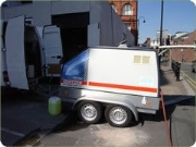 High Pressure Water Blasting Chewing Gum And Graffiti Removal