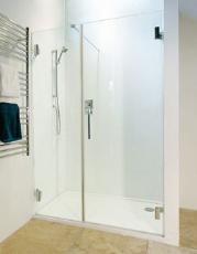 'The Reef' Frameless Shower Door Partition in 10mm Glass
