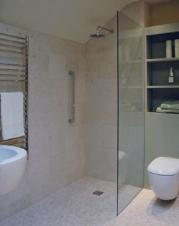 The Sail Wet Room Glass Shower Panel in 10mm Glass