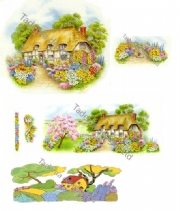Cottage Garden Ceramic Transfers