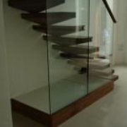 American Black Walnut Staircases with Glass Balustrading