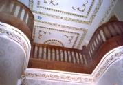 Brazilian Mahogany Curved Staircases with Barley Twist Ballusters