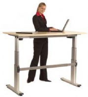 Electrically Operated Rectangular Electric Sit Stand Desk Range