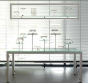 Aluminium Shop Window Table Spectacles Display System