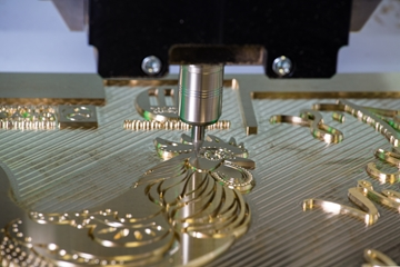 Brass hot foil dies